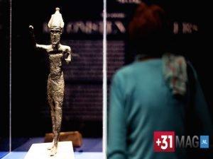 Statuetta in bronzo della divinità Reshef X-VIII sec a.C.