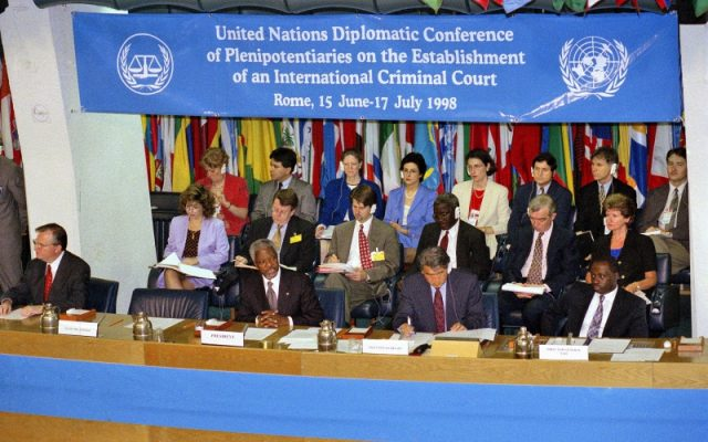 The establishment of the International Criminal Court in 1998
